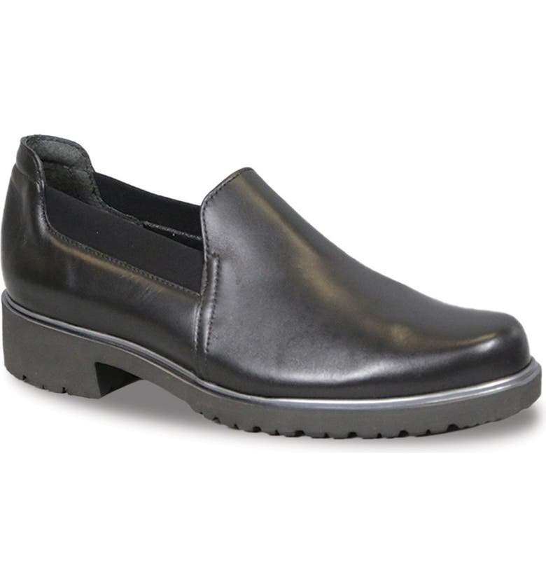 MUNRO Becca Loafer, Main, color, BLACK LEATHER