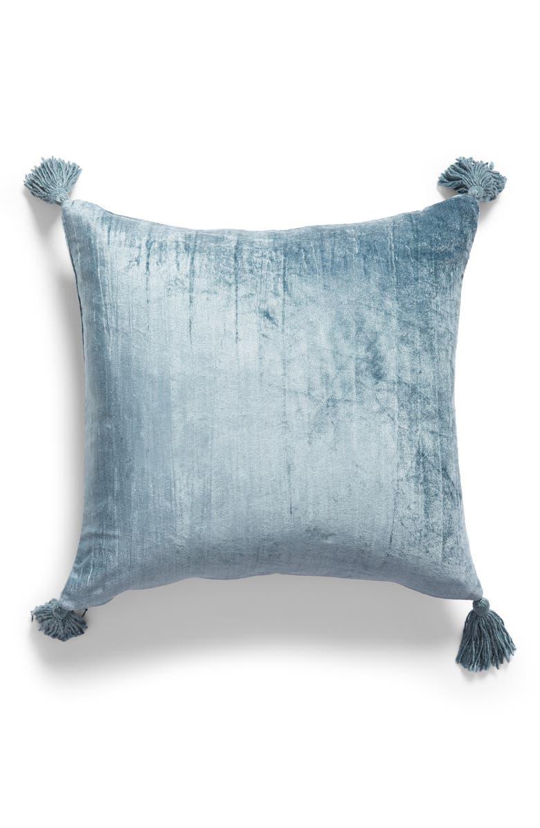 NORDSTROM AT HOME Tassel Crushed Velvet Accent Pillow, Main, color, 440