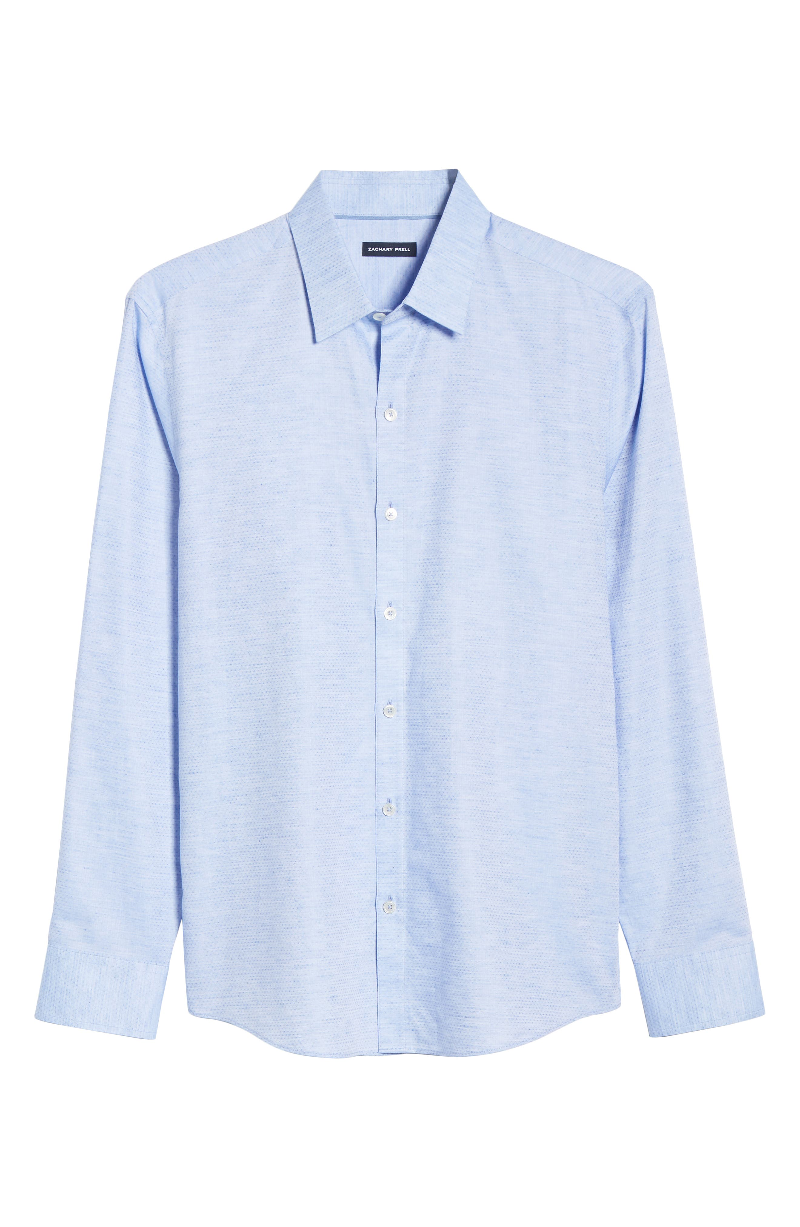 ,                             Alfano Regular Fit Cotton & Linen Sport Shirt,                             Alternate thumbnail 5, color,                             LT BLUE