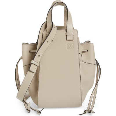 Loewe Hammock Medium Pebbled Leather Hobo - Beige