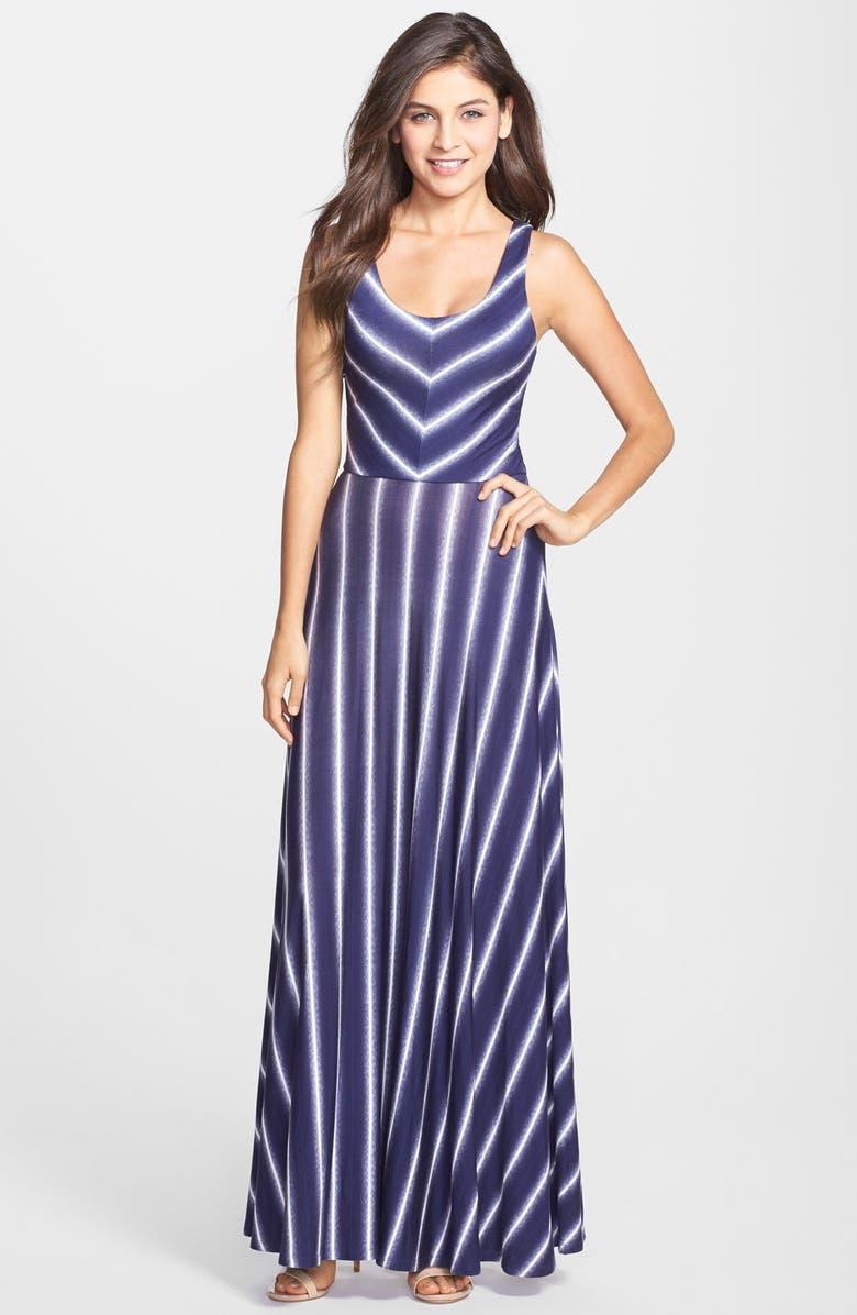 FELICITY & COCO Stripe Scoop Neck Maxi Dress, Main, color, 429