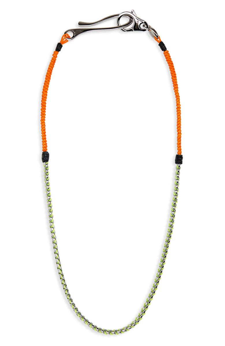 JONAS STUDIO Hand Woven Chain Necklace, Main, color, 300