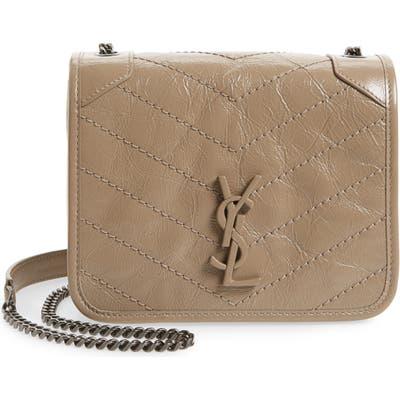 Saint Laurent Niki Leather Crossbody Bag - Beige