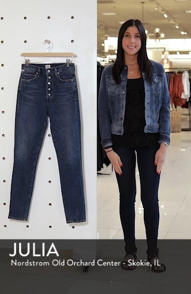 Olivia High Waist Slim Jeans, sales video thumbnail