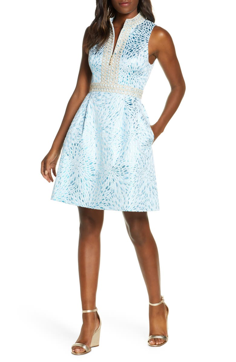 LILLY PULITZER<SUP>®</SUP> Franci Fit & Flare Dress, Main, color, 413