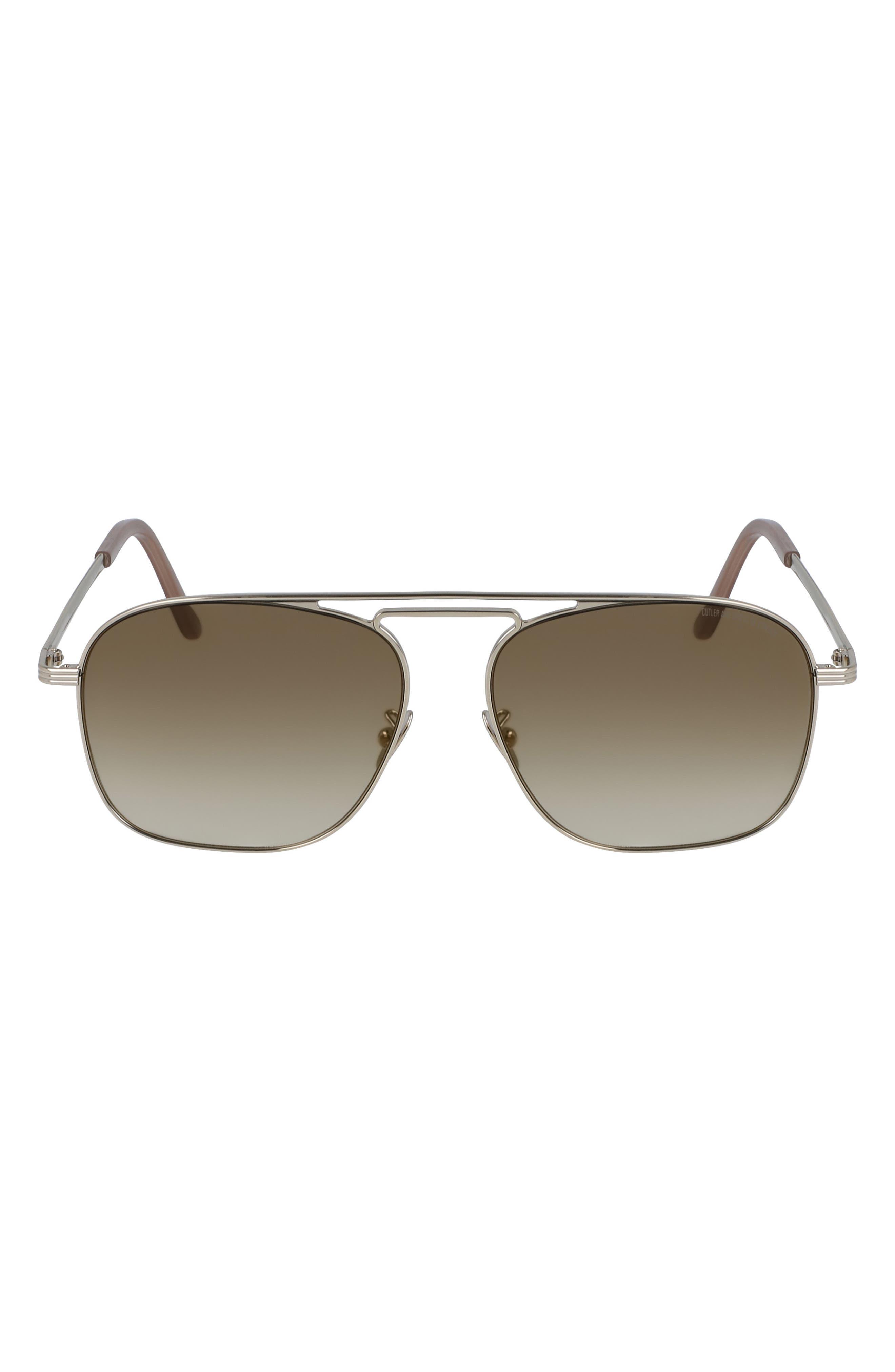 56mm Aviator Sunglasses