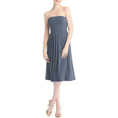 Dessy Collection Multi-Way Loop Fit & Flare Dress, Blue
