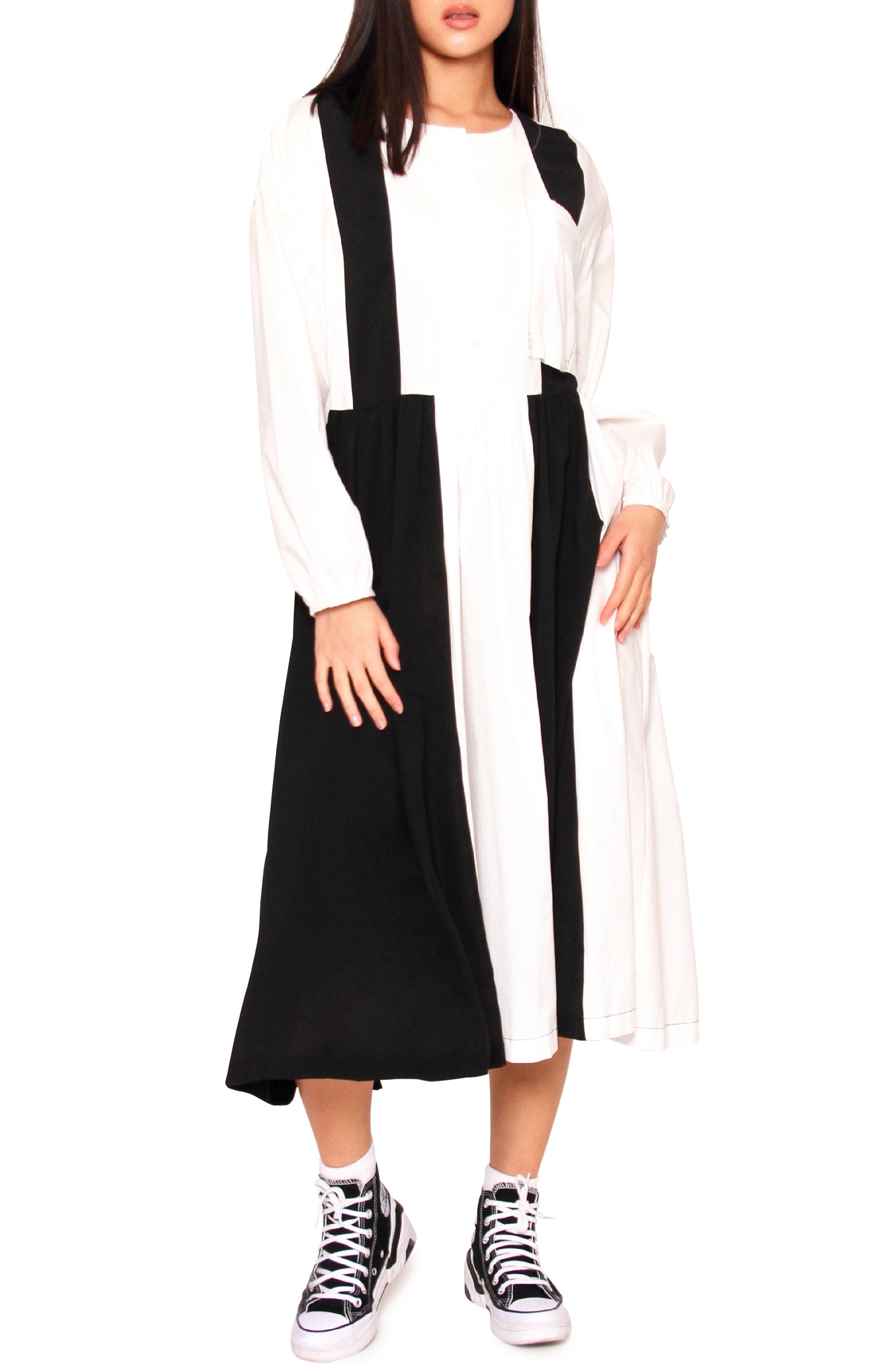 Elsa Long Sleeve Colorblock Midi Dress