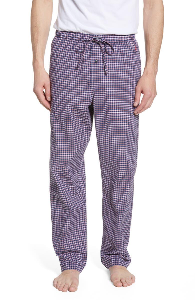 POLO RALPH LAUREN Classic Stretch Cotton Pajama Pants, Main, color, ALLEN PLAID