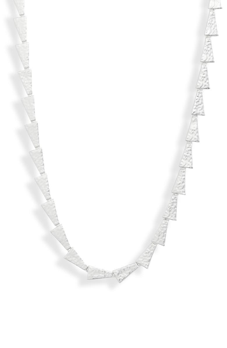 KENDRA SCOTT Kendar Scott Leon Collar Necklace, Main, color, SILVER