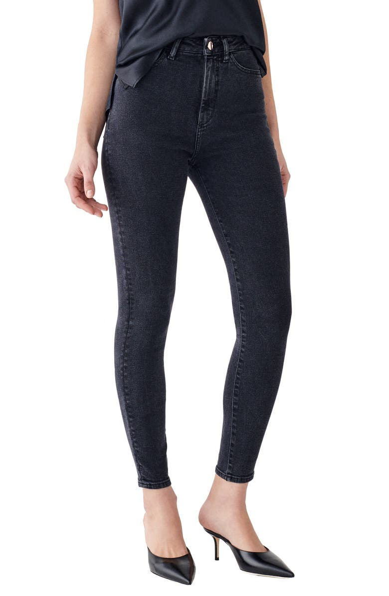 DL1961 x Marianna Hewitt Instasculpt Chrissy Ultra High Waist Ankle Skinny Jeans, Main, color, 020