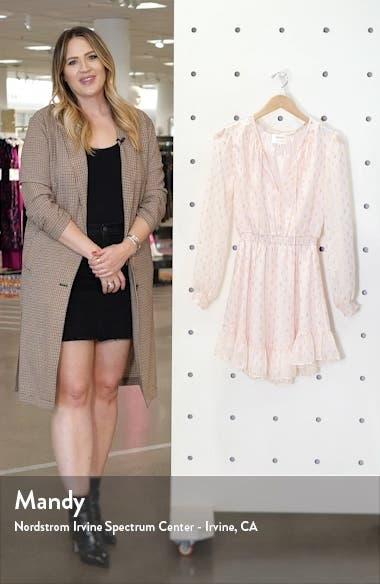 x BFF Laura Smocked Waist Long Sleeve Minidress, sales video thumbnail