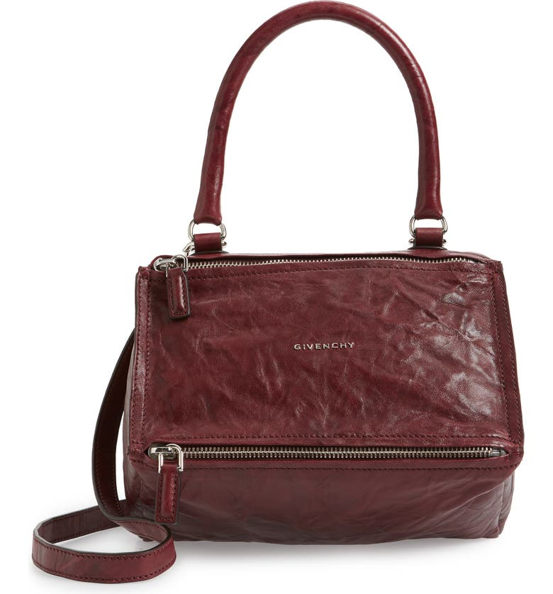 2ec4f171d74 'Small Pepe Pandora' Leather Crossbody Bag, Main, color, AUBERGINE '