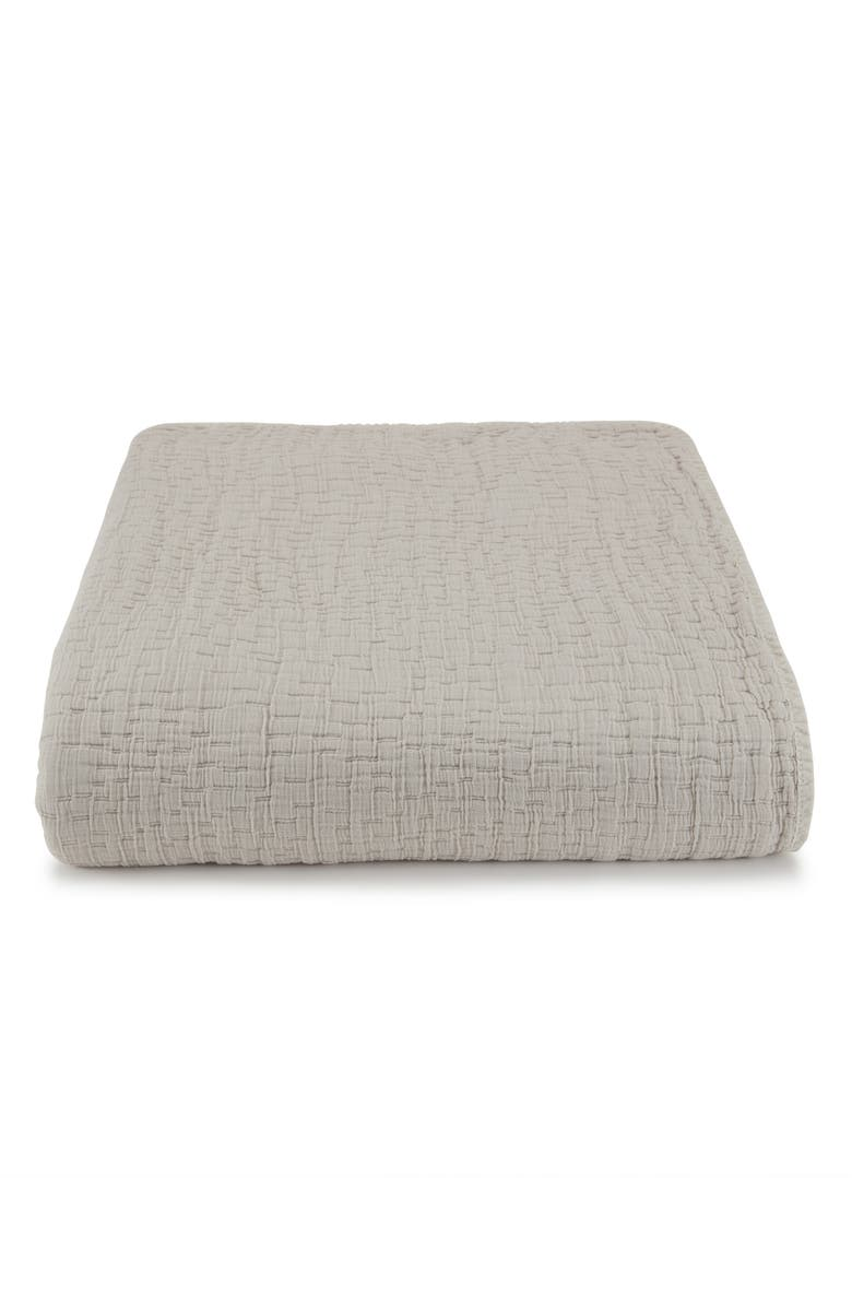 KASSATEX Lafayette Coverlet, Main, color, DOLPHIN GREY