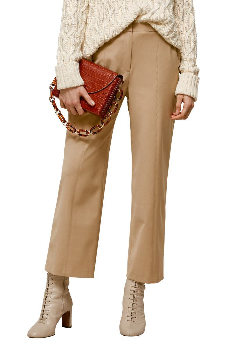 WHISTLES Sonia Tapered Trousers, Main, color, CAMEL
