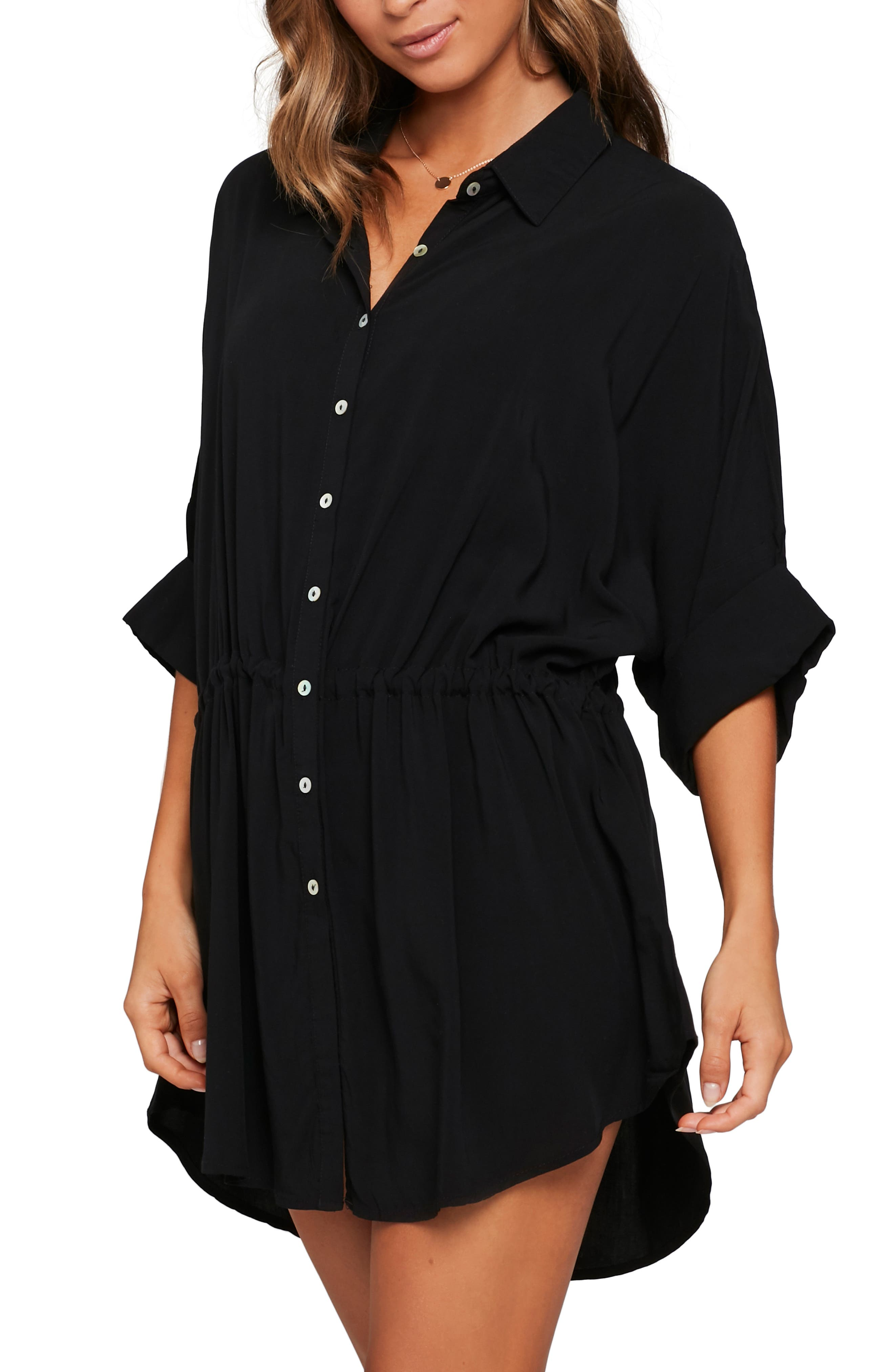 ,                             Pacifica Cover-Up Tunic,                             Alternate thumbnail 4, color,                             BLACK