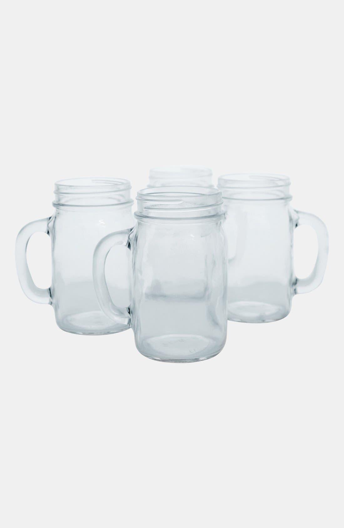 ,                             Monogram Glass Drinking Jars,                             Main thumbnail 4, color,                             000