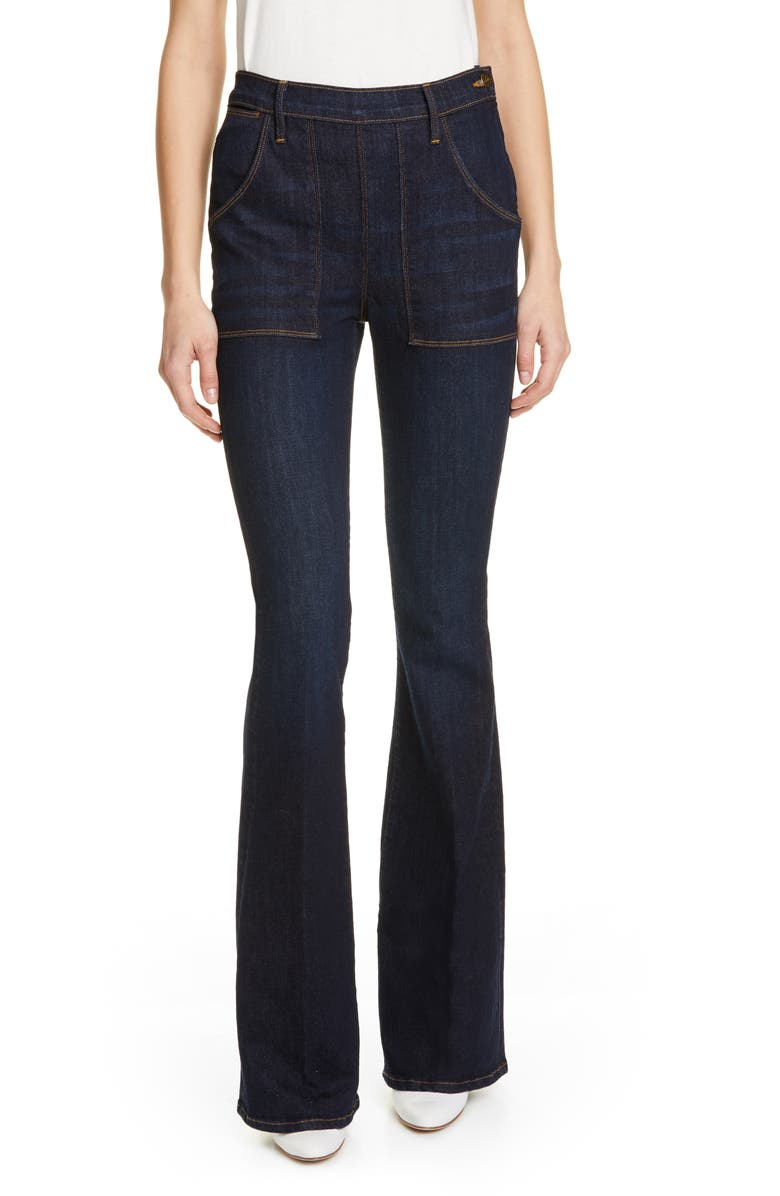 FRAME Le Flare de Françoise High Waist Flare Jeans, Main, color, QUEENS WAY