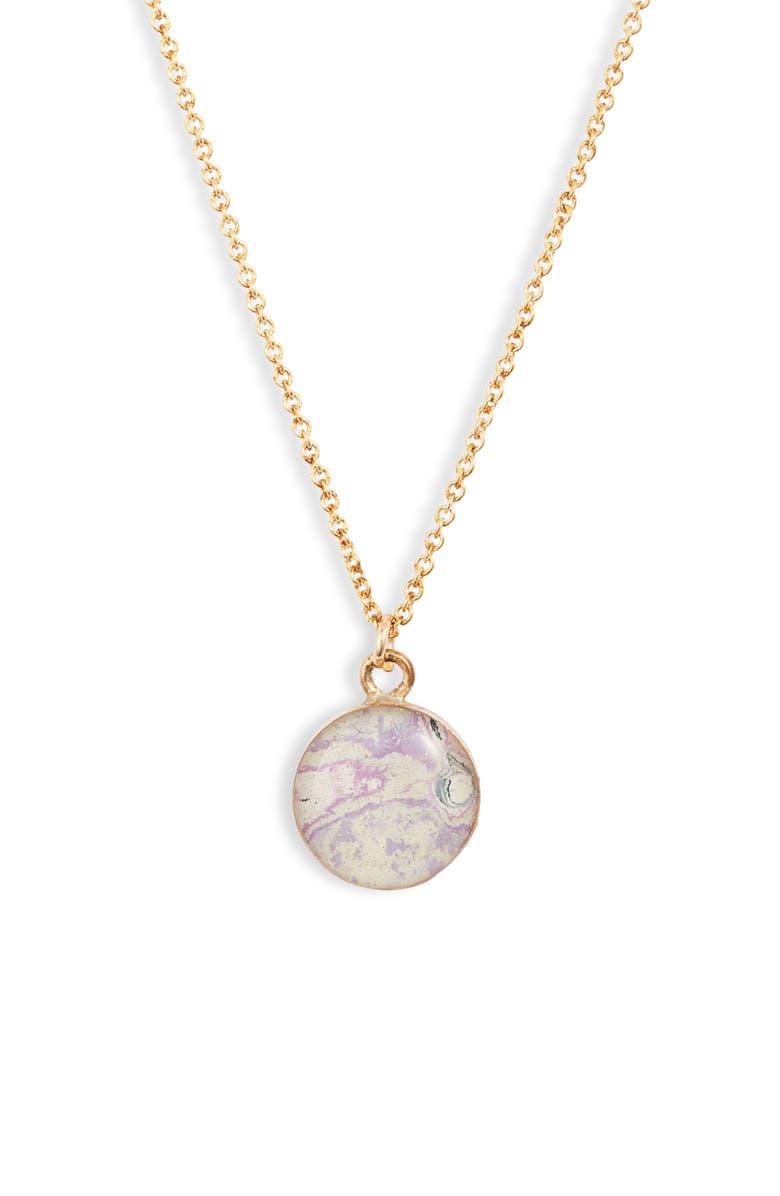 REBEL NELL Amy Pendant Necklace, Main, color, LAVENDAR