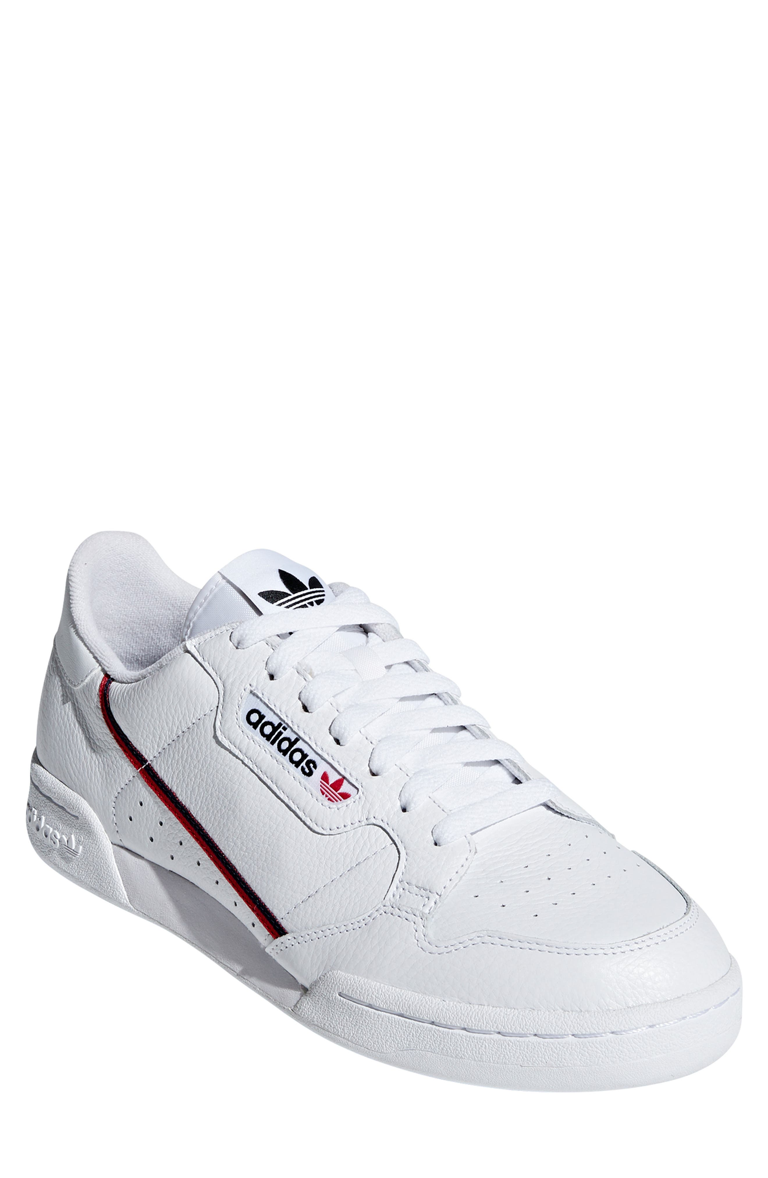 ,                             Continental 80 Sneaker,                             Main thumbnail 1, color,                             WHITE/ SCARLET