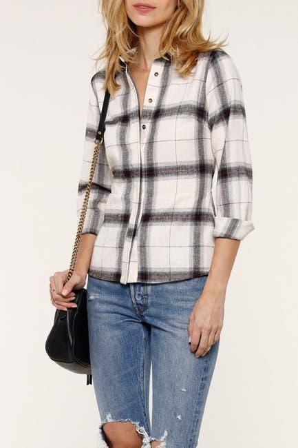 Image of Heartloom Luka Plaid Lace-Up Back Shirt