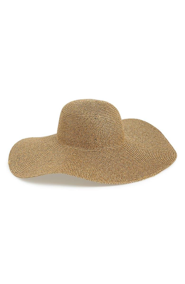 PHASE 3 Metallic Floppy Straw Hat, Main, color, 235