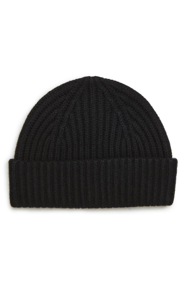 NORDSTROM MEN'S SHOP Cashmere Knit Cap, Main, color, 001