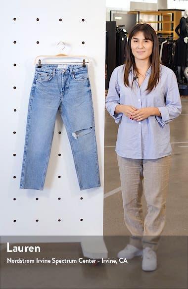 Jamie High Waist Ripped Knee Raw Hem Jeans, sales video thumbnail