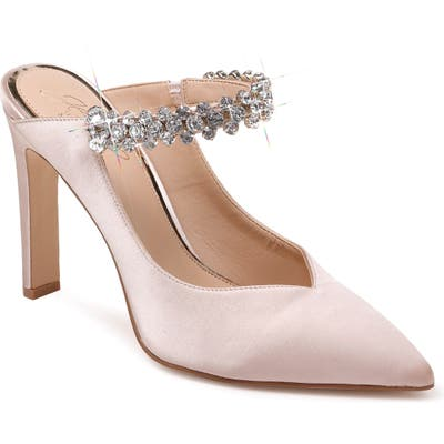 Jewel Badgley Mischka Stella Crystal Mule Pump, Ivory