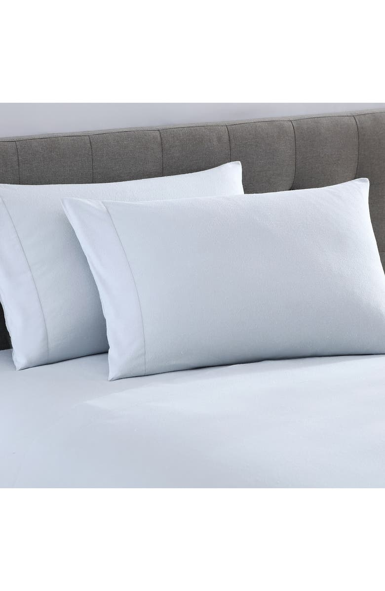 UGG<SUP>®</SUP> Gracen Set of 2 Luxury Flannel Pillowcases, Main, color, STONE