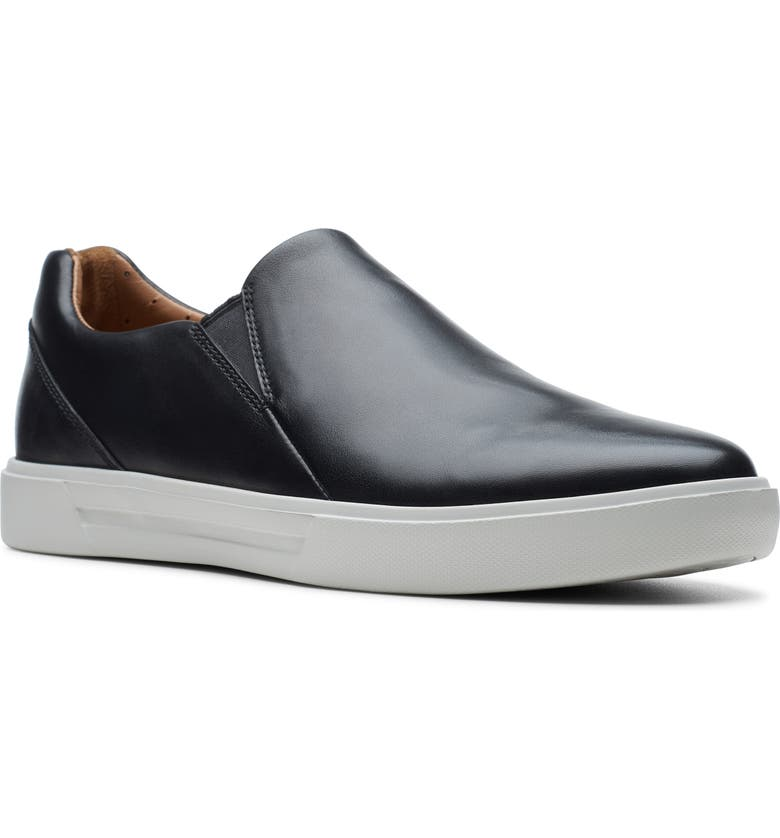 CLARKS<SUP>®</SUP> Un Costa Step Slip-On, Main, color, BLACK LEATHER