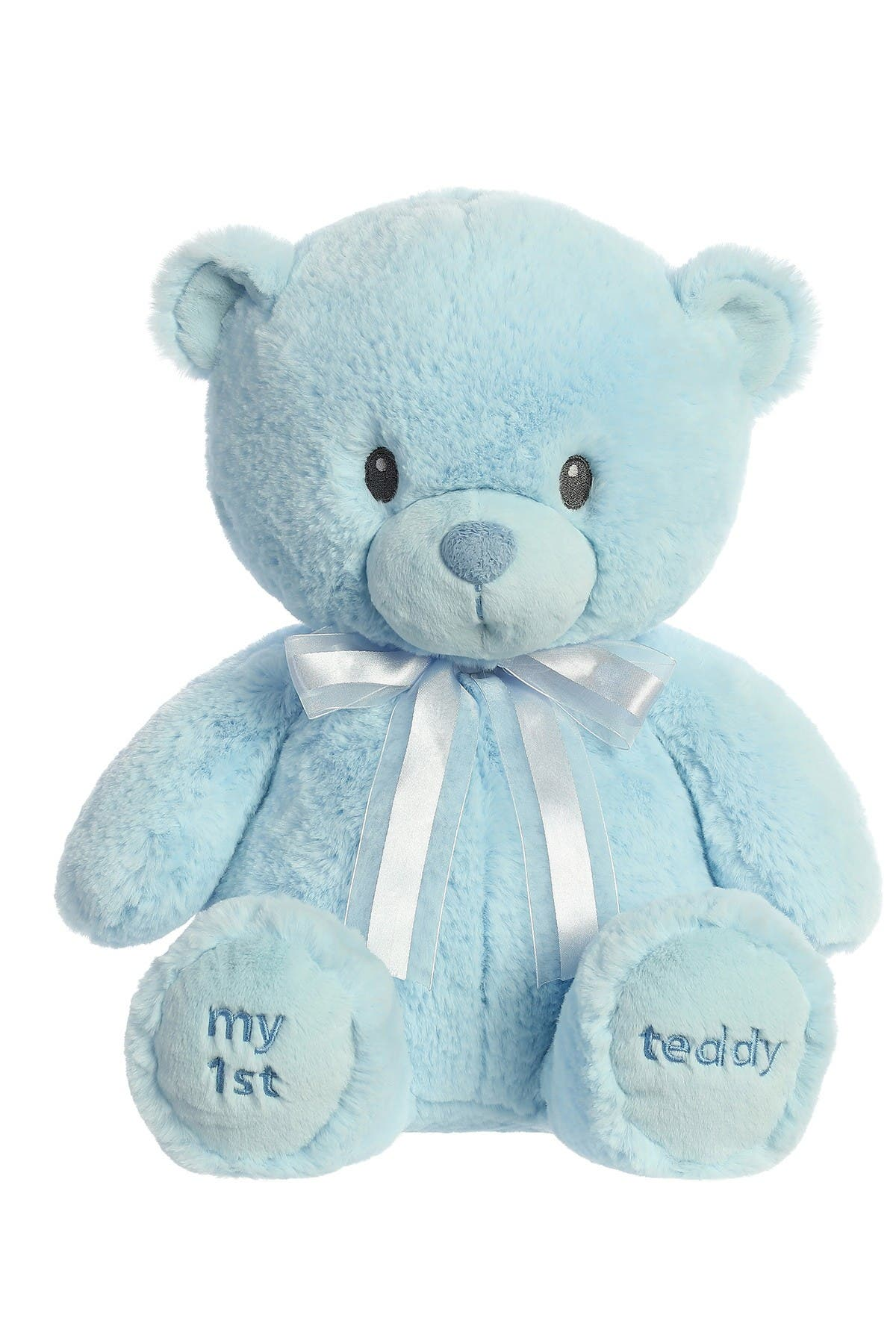 "Image of Aurora World Toys 18"" My First Teddy - Blue Faux Fur"
