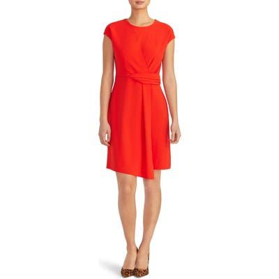Rachel Roy Collection Asymmetrical Twist Knit Dress, Red
