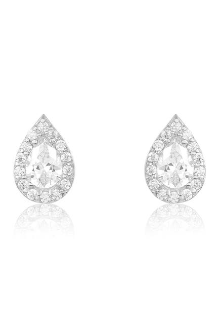 Image of Sterling Forever Sterling Silver CZ Teardrop Stud Earrings