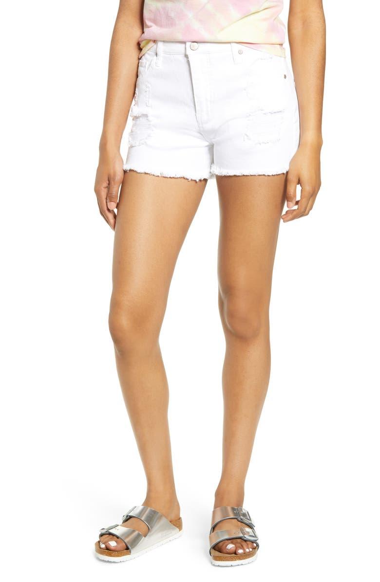 Tinsel Ripped Denim Shorts