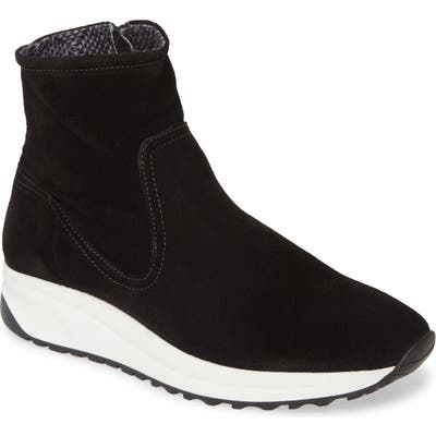 Aquatalia Betty Weatherproof Sneaker Bootie, Black