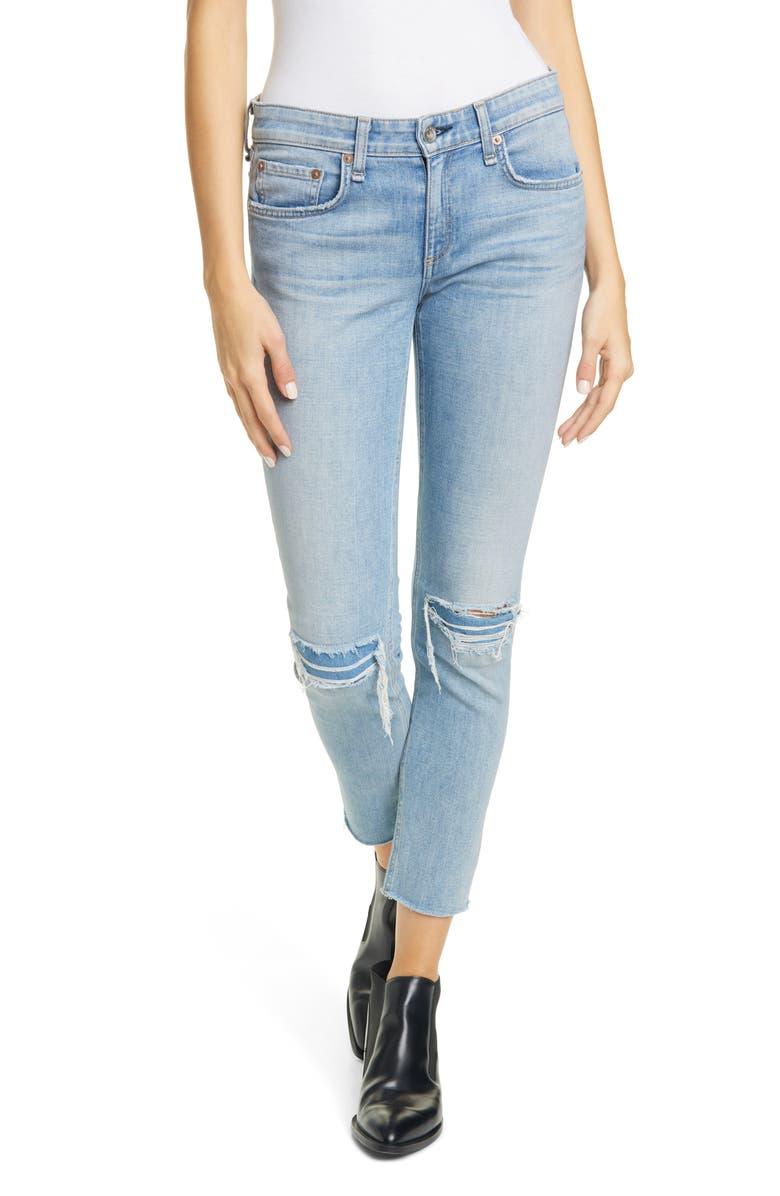 RAG & BONE Dre Slim Fit Ripped & Reinforced Boyfriend Jeans, Main, color, ALYSSA