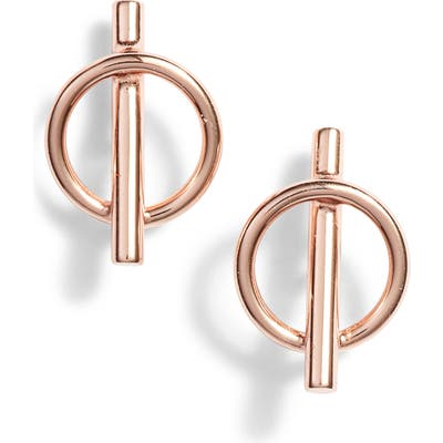Argento Vivo Pierced Circle Stud Earrings