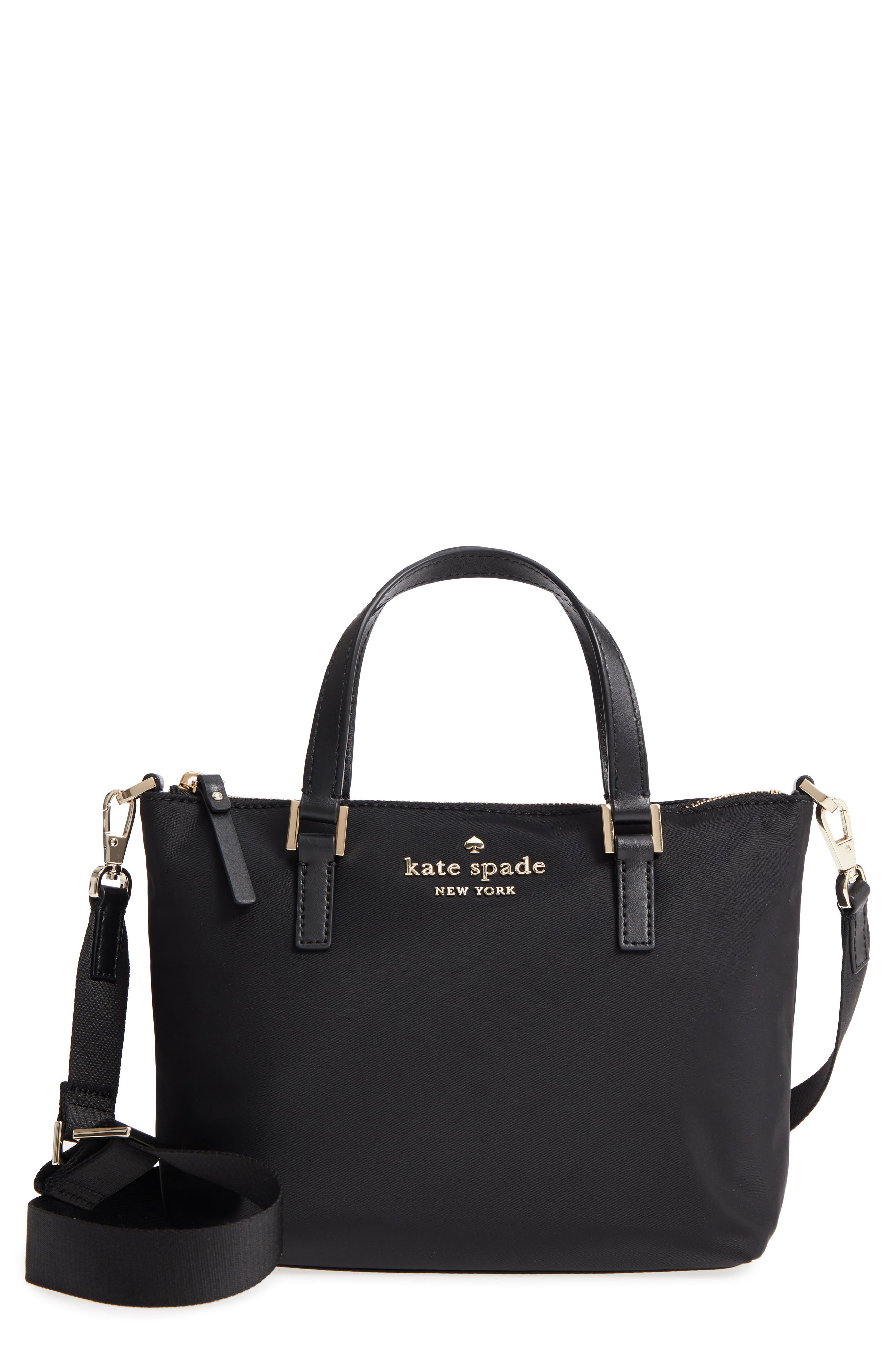 watson lane - lucie nylon crossbody bag, Main, color, BLACK