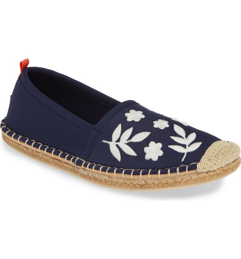 SEA STAR BEACHWEAR Beachcomber Espadrille Water Shoe, Main, color, DARK NAVY EMBROIDERED FABRIC