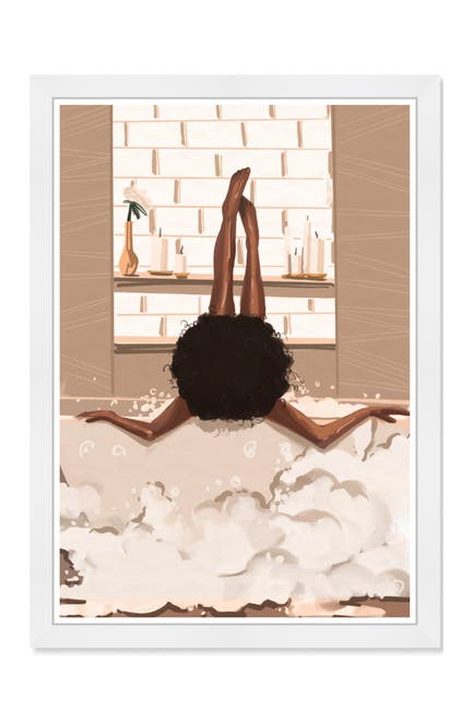 Image of Wynwood Studio Warm Bubbles Brown Framed Wall Art