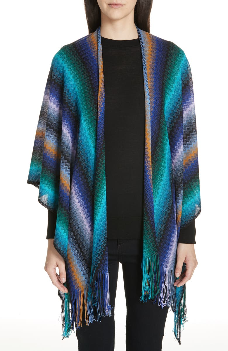 MISSONI Wool Cape, Main, color, PURPLE