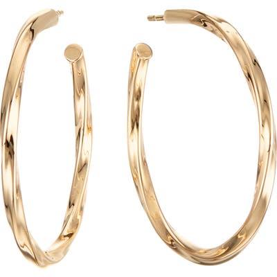 Lana Jewelry Skinny Wave Twist Royale Hoop Earrings