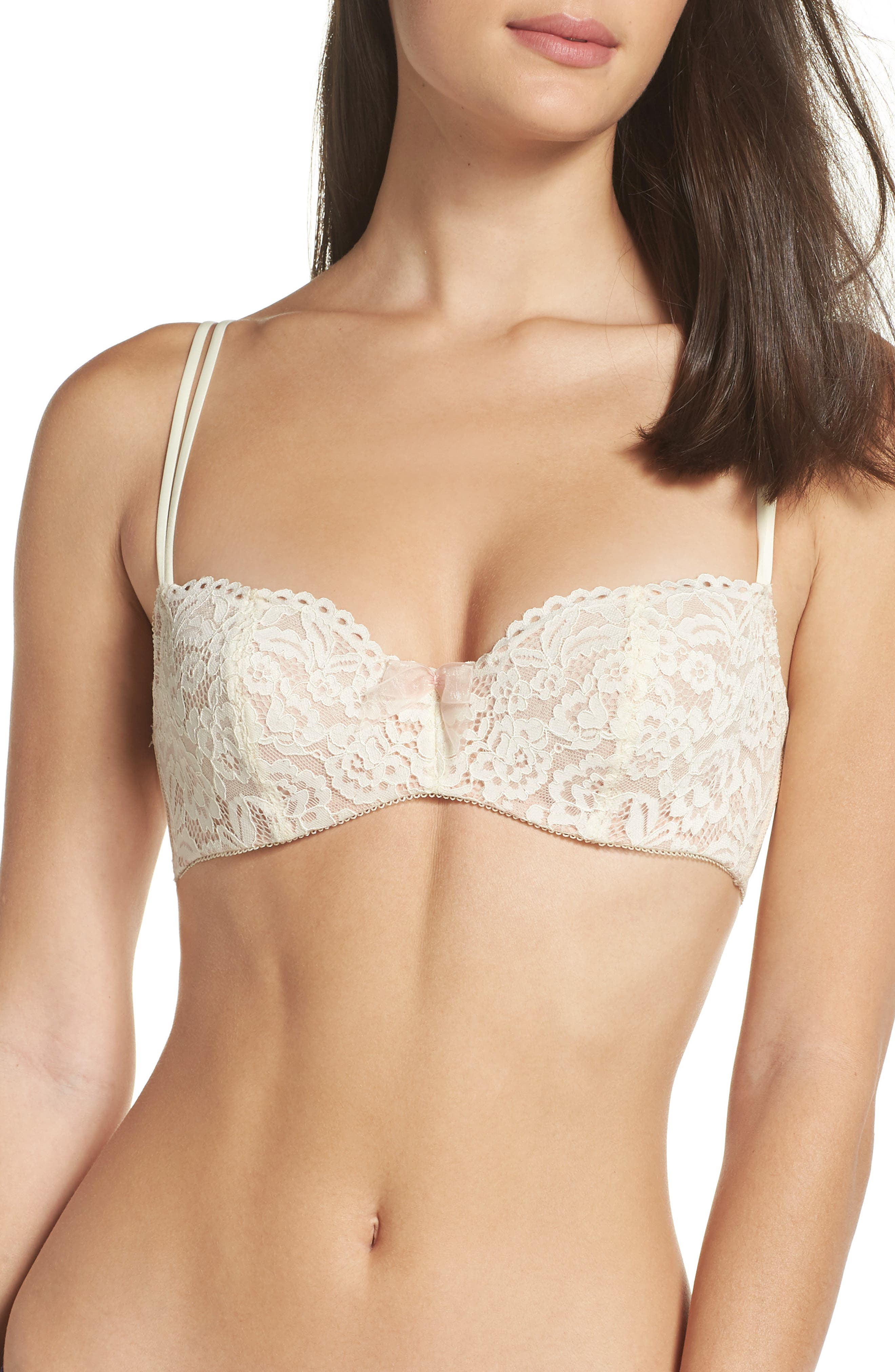 'Ciao Bella' Underwire Balconette Bra, Main, color, IVORY