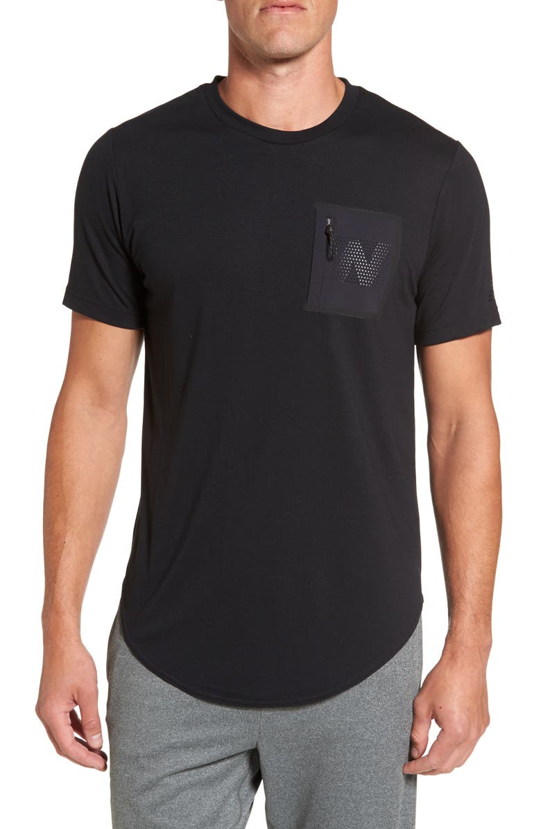 NEW BALANCE 247 Sport Pocket T-Shirt, Main, color, 001