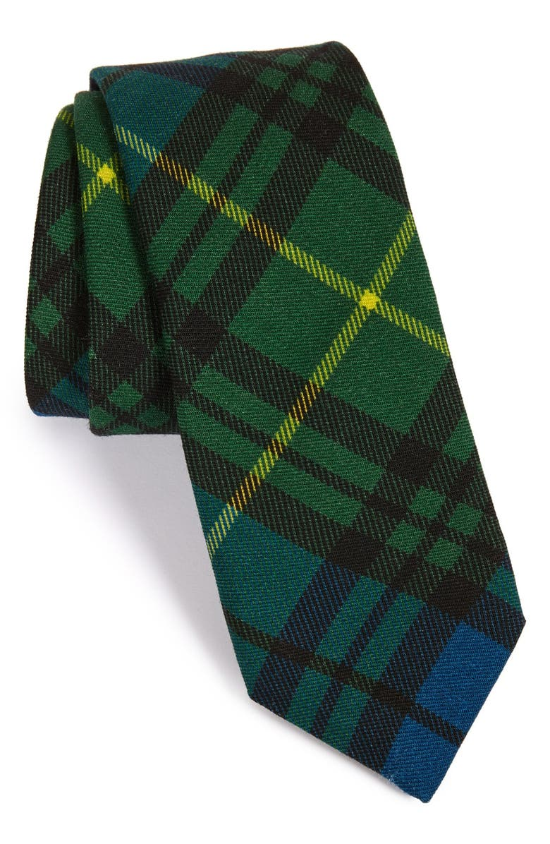 TODD SNYDER WHITE LABEL 'Signature' Plaid Wool Tie, Main, color, 300