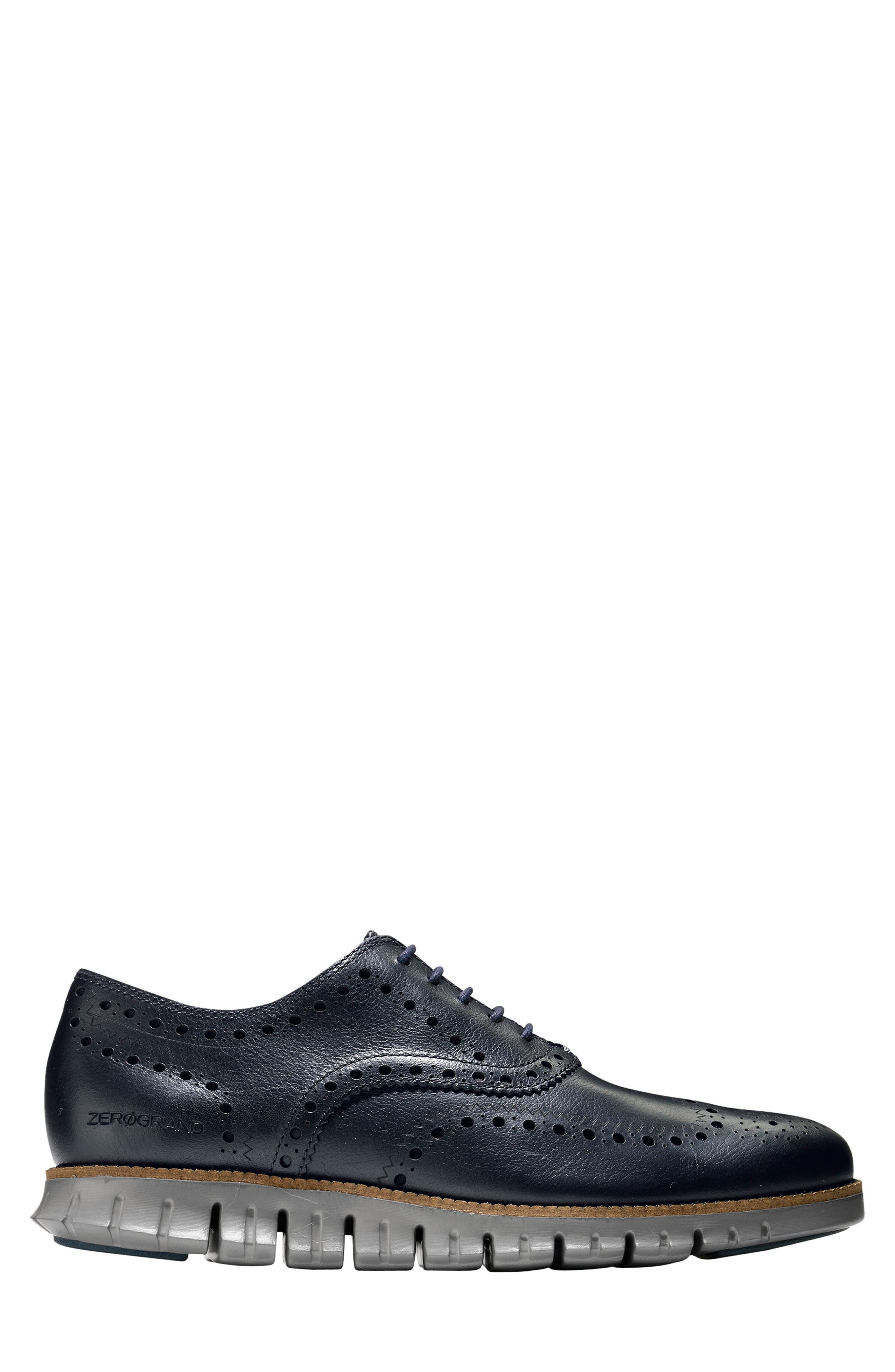 ,                             'ZeroGrand' Wingtip Oxford,                             Alternate thumbnail 3, color,                             NAVY INK LEATHER