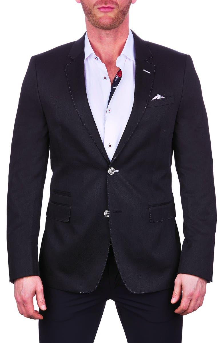 MACEOO Socrates Arrow Black Sport Coat, Main, color, 007