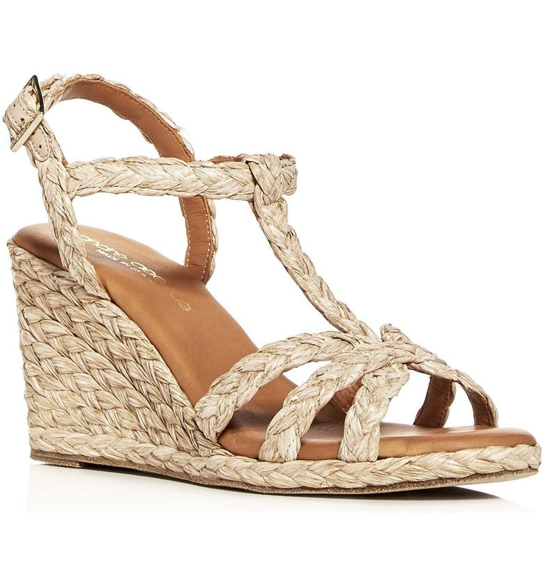 ANDRÉ ASSOUS Madina Espadrille Wedge Sandal, Main, color, BEIGE FABRIC