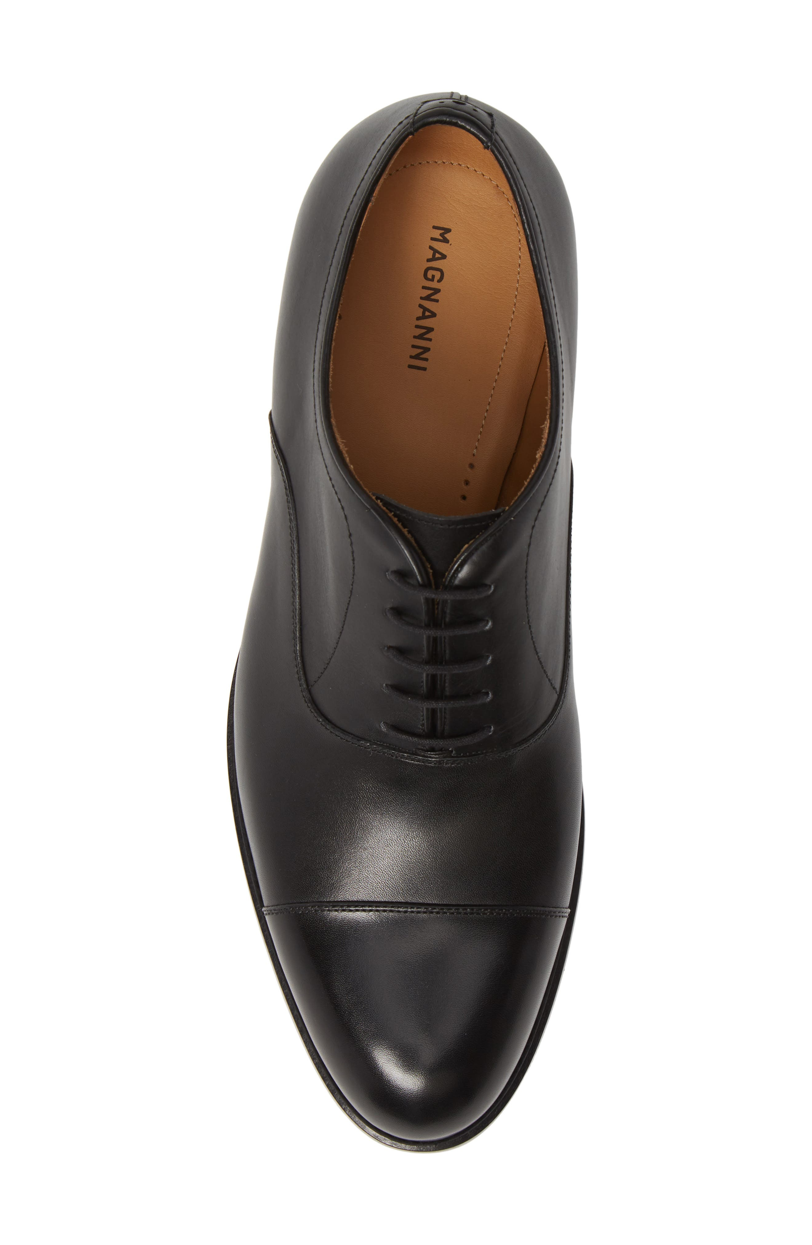 ,                             Jefferson Cap Toe Oxford,                             Alternate thumbnail 5, color,                             BLACK LEATHER